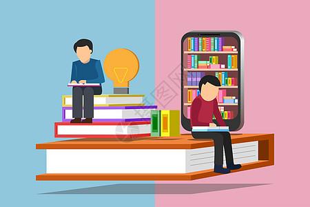 网上书城读书素材图片