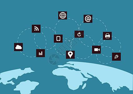 全球化扁平背景图片