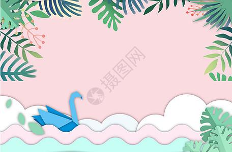 假日海边背景素材图片