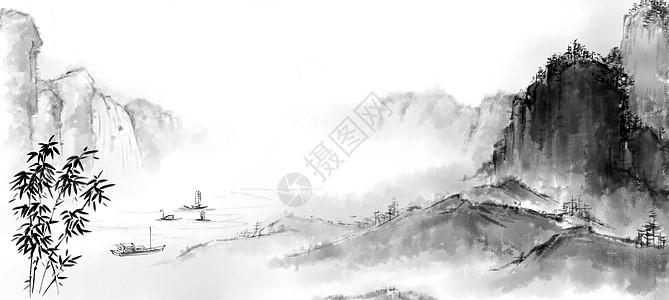 山水古风高清图片