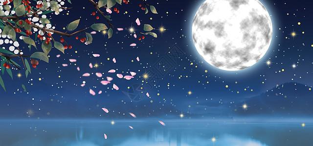 圆月亮图片