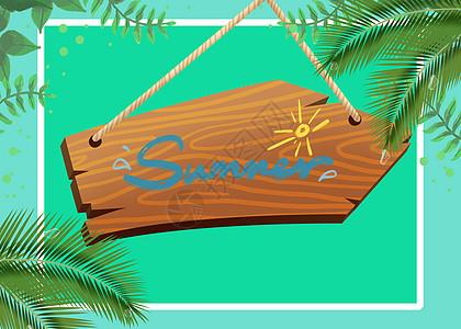 夏季木板背景图片