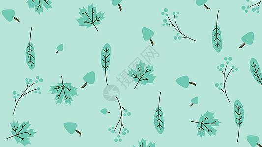 小清新各种叶子背景图片