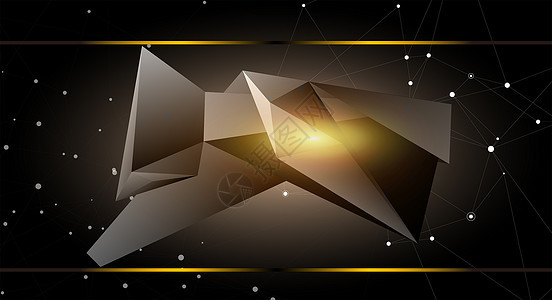 空间几何科技感背景图片
