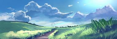 风和日丽插画图片
