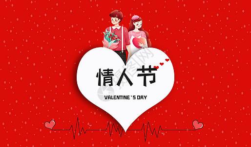 情人节红色背景图片
