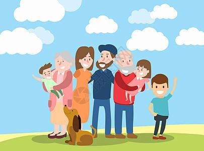 一家人幸福快乐的出游图片