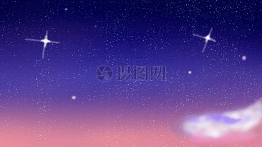深邃蓝色星空背景图片