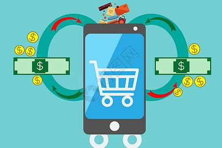 手机购物理财图片