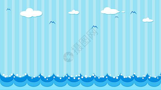 清新海洋风小插画背景图片