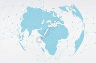 科技线条与地球图片