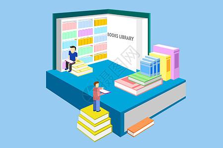 概念图书馆素材图片