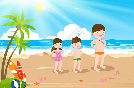 海滩玩耍图片