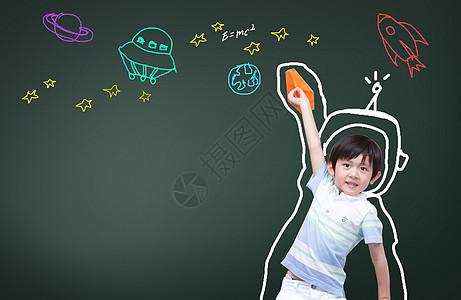 有着航天梦想的小孩图片
