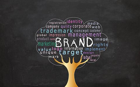大树BRAND商业背景下载图片