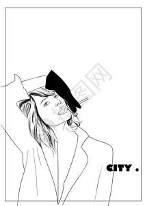 城市女孩形象图片