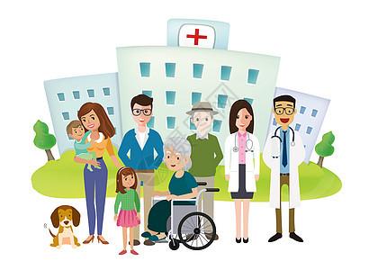 医生与病人家属合影图片
