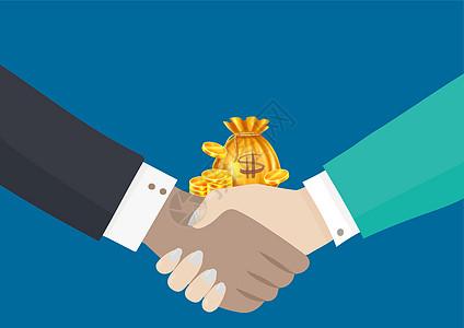 握手创造经济图片