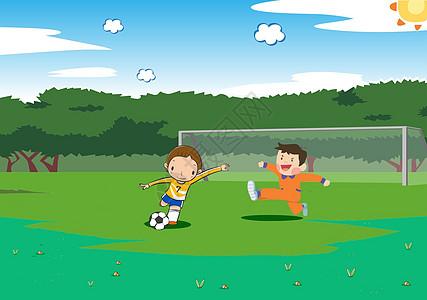 踢足球高清图片