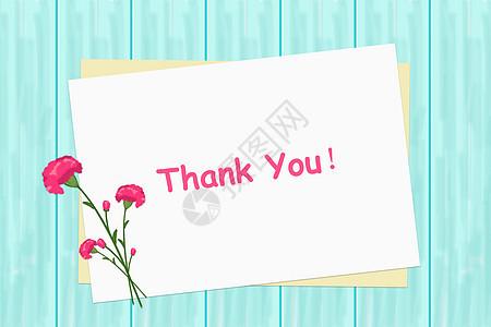 蓝色木板纸张花束背景图片