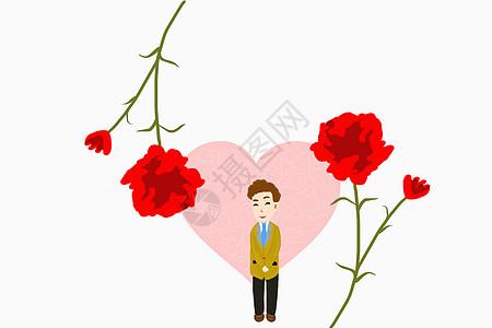 教师爱心花朵图片