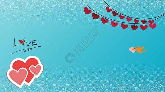 七夕情人节卡通背景素材图片
