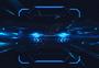 科技信息技术线条蓝色背景图片