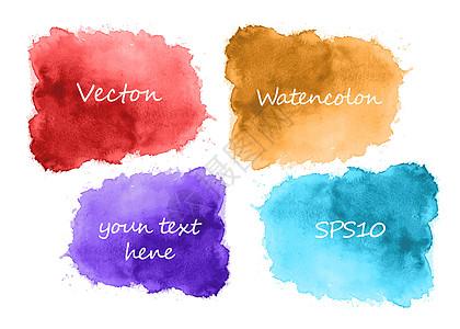 手绘彩色水彩墨迹纹理图片