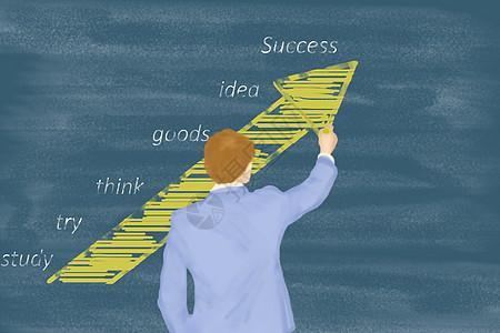 黑板上的成功教育讲解图片