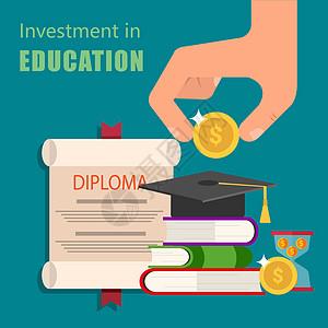 对教育的投资最终获取学历文凭图片