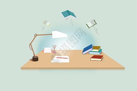 学生书桌图片