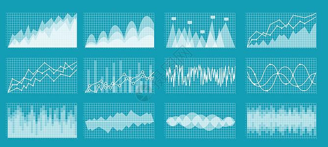 矢量大数据图表合集图片