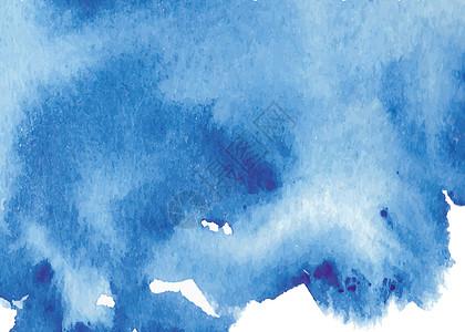 手绘蓝色水彩墨迹背景图片