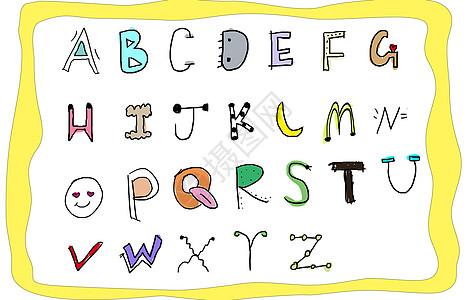 手绘字母图片