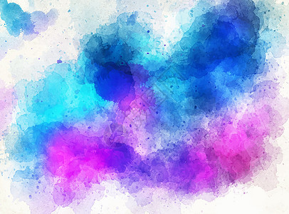 手绘水彩彩色墨迹背景图片