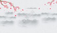 水墨梅花海报图片