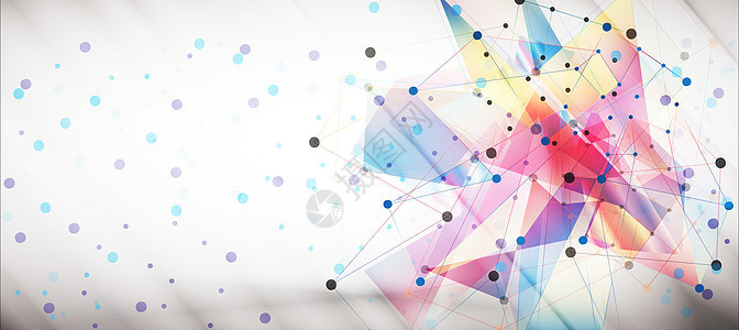 版块圆点元素科技背景图片