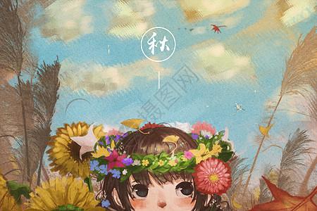 秋季手绘背景图片