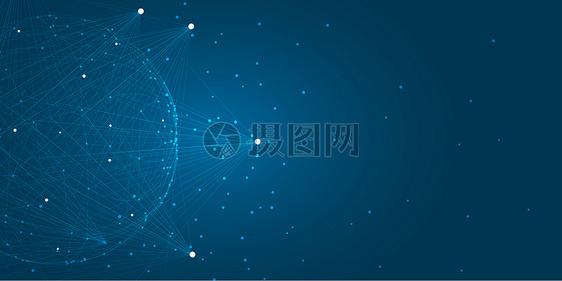 矢量科技线条banner图片