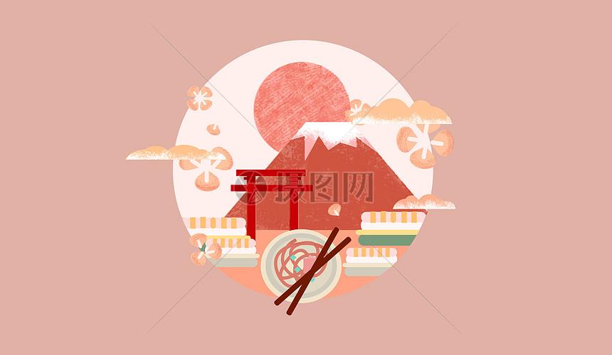 日本国度矢量插绘图图片