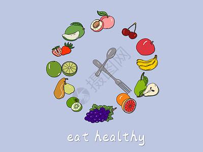 健康时钟图片
