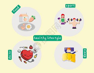 健康的生活习惯图片