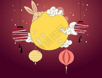 节日五彩灯笼背景图片