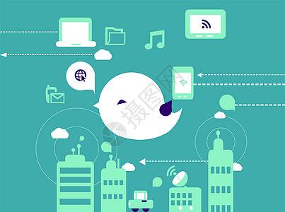 手绘网络商务图片
