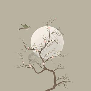 中国风矢量手绘插画图片