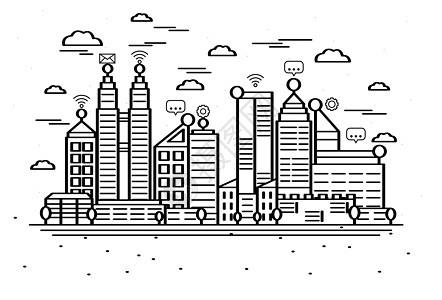 城市风景矢量图片