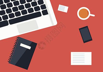 商业办公室计算机插画图片