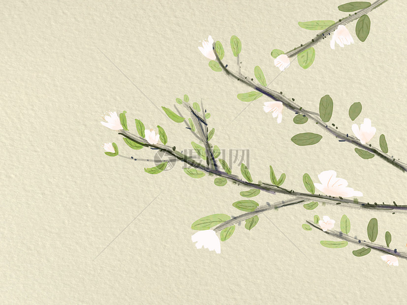 手绘古风树枝摄影图片照片免费下载,正版图片编号,就
