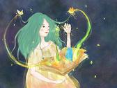 春天精灵插画海报壁纸图片
