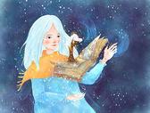 冬天精灵插画海报壁纸图片